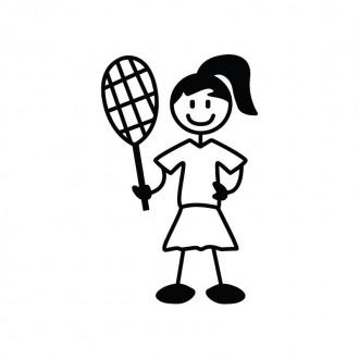 Ragazza tennista- adesivi famiglia