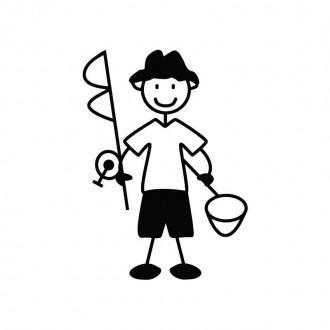 Papà pescatore - Famiglia adesiva