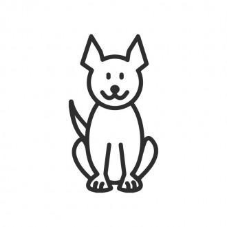 Cane mod.2 - adesivi famiglia