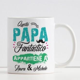 tazza personalizzata per un papà fantastico