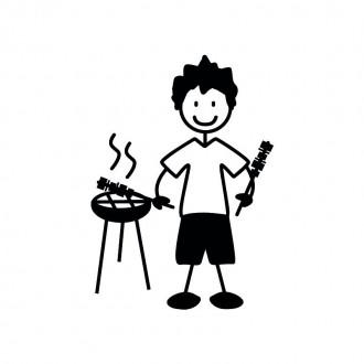 Papà grill  - adesivi famiglia