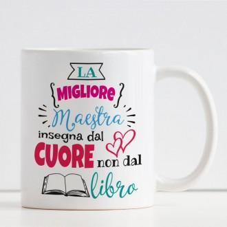 Tazza La Migliore Maestra personalizzata con nome e classe