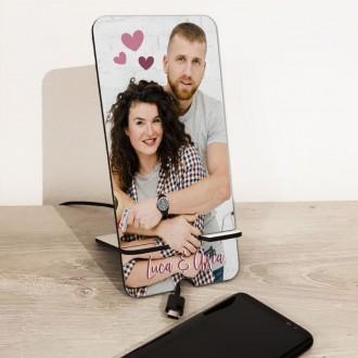 Appoggia cellulare personalizzato con foto e dedica