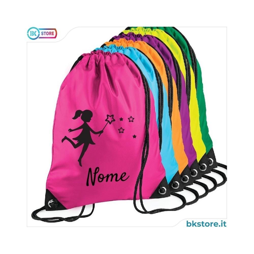 Zainetto personalizzato con bambina e stelline