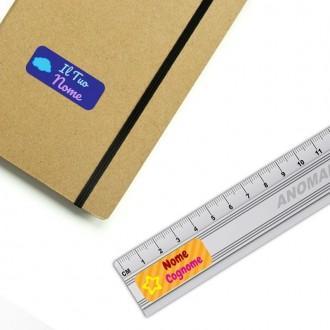 Kit 20 Etichette Adesive rettangolari 50x20mm