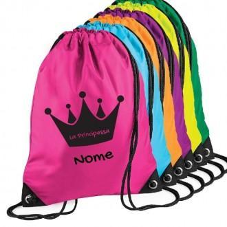Zainetto personalizzato con corona e nome