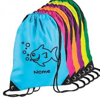 Zainetto personalizzato con pesce e nome