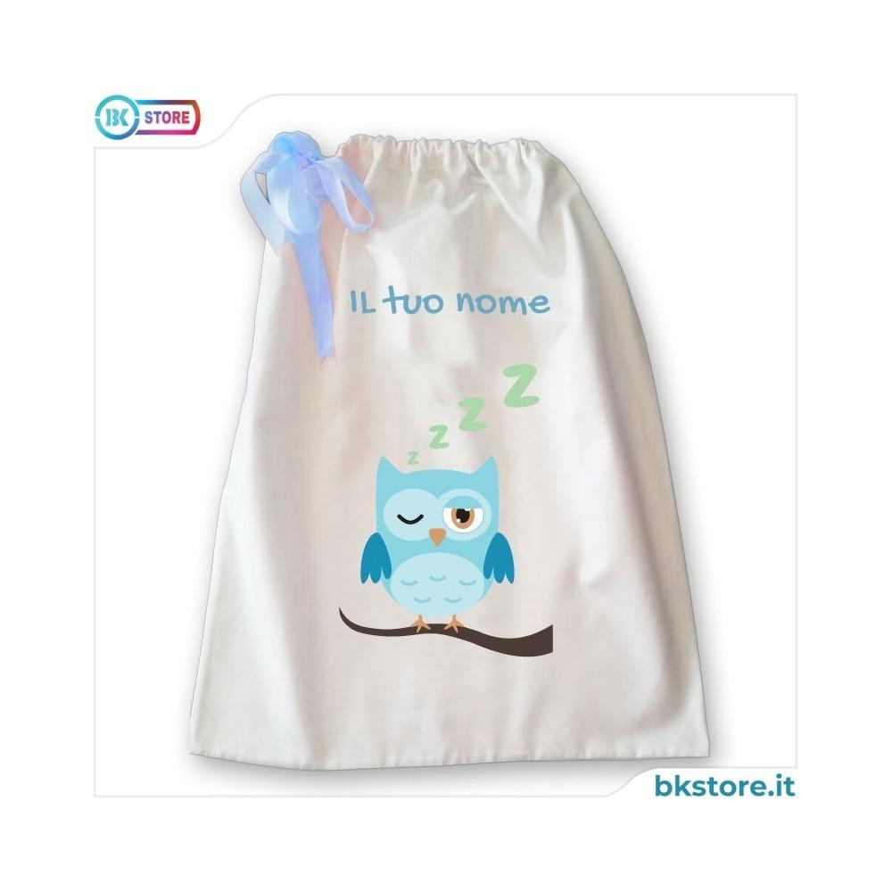 Sacca della nanna con disegno gufo che dorme  per bambino