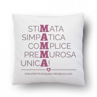 cuscino mamma personalizzato