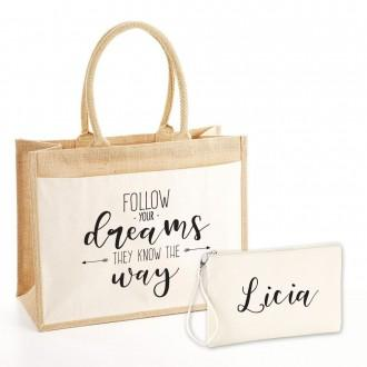 borsa personalizzata pochette