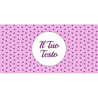 Borraccia da bambina con sfondo rosa, cuoricini e nome