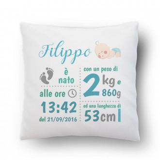 cuscino regalo nascita