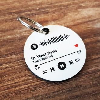 Portachiavi personalizzato con codice spotify