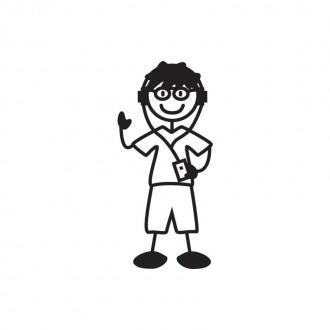 Bimbo con occhiali e ipod