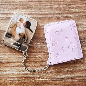 specchietto da borsa personalizzato con foto e testo