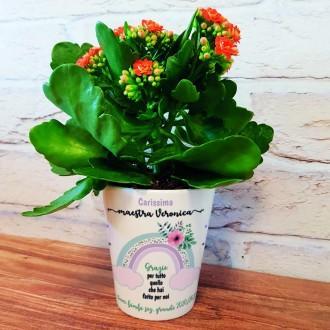 vaso ceramica fiori per la maestra
