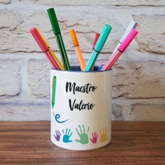 portapenne regalo personalizzato per un maestro con nome e classe