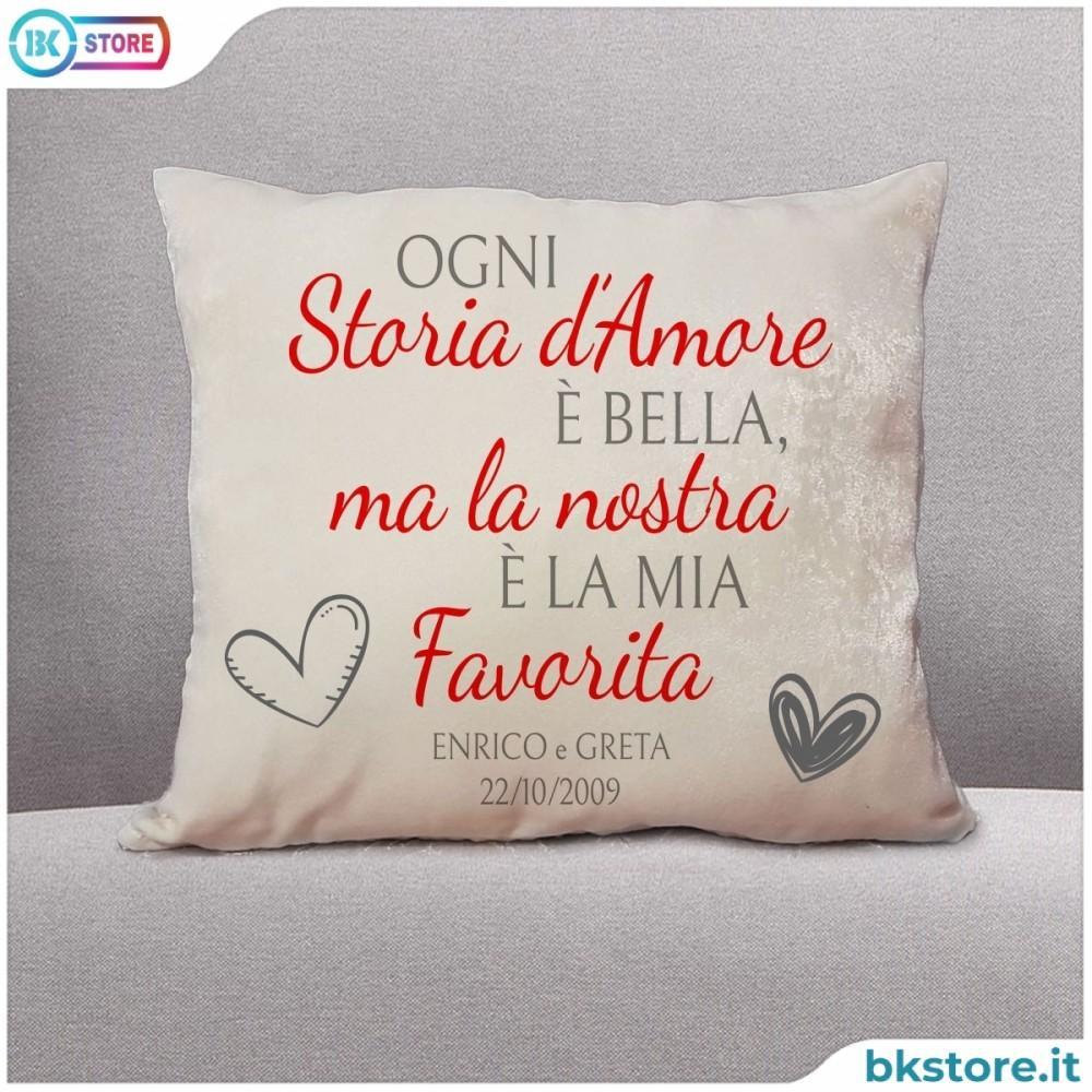 Cuscino Con Frase D Amore Personalizzato Anche Con Nomi