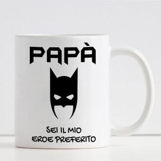 tazza personalizzata papà supereroe