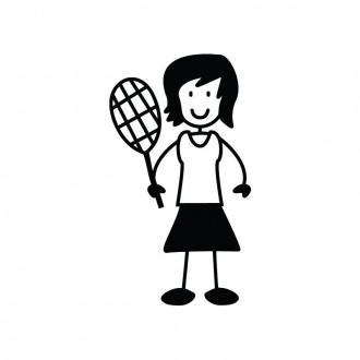 Mamma tennista - Famiglia adesiva