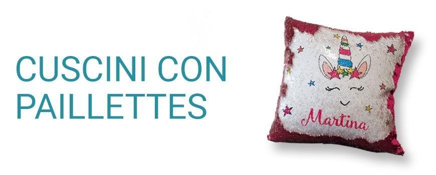 Cuscini Con Paillettes personalizzati - Gira e Brilla
