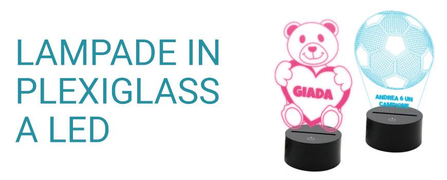 Lampade in plexiglass a led